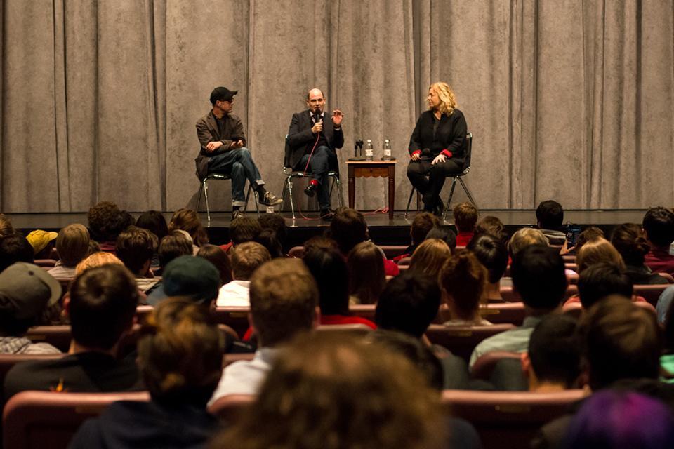 Q&A session with Matthew Weiner in the ACE Theatre Complex / Photo: Drew Davis
