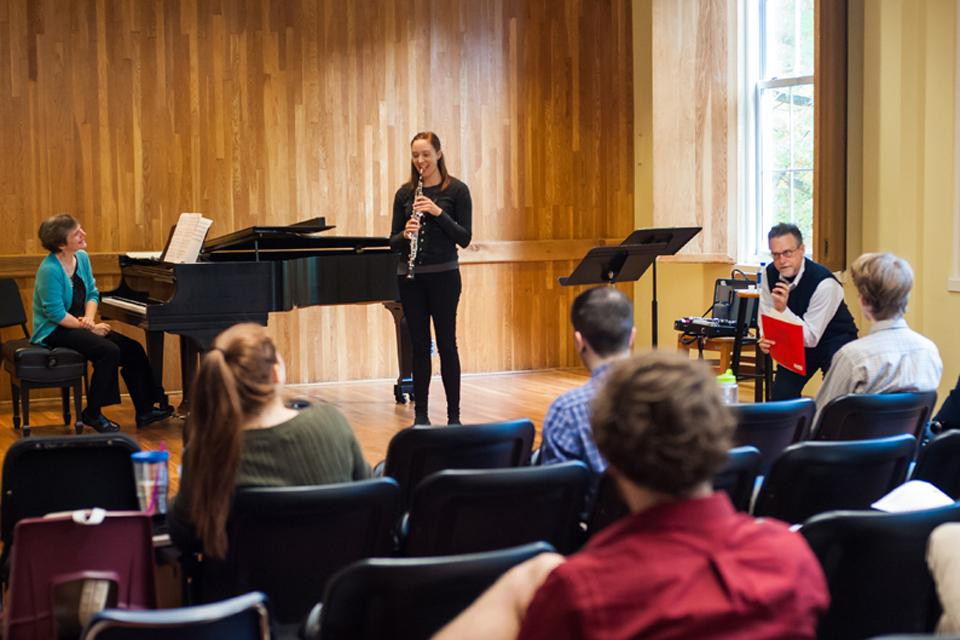 Master class with Chamber Music Society of Lincoln Center / Photo: Drew Davis
