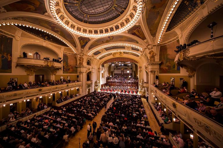 The orchestra played the Smetana Hall in Prague, capital of the Czech Republic on July 25, 2016. Photo: Chris Lee