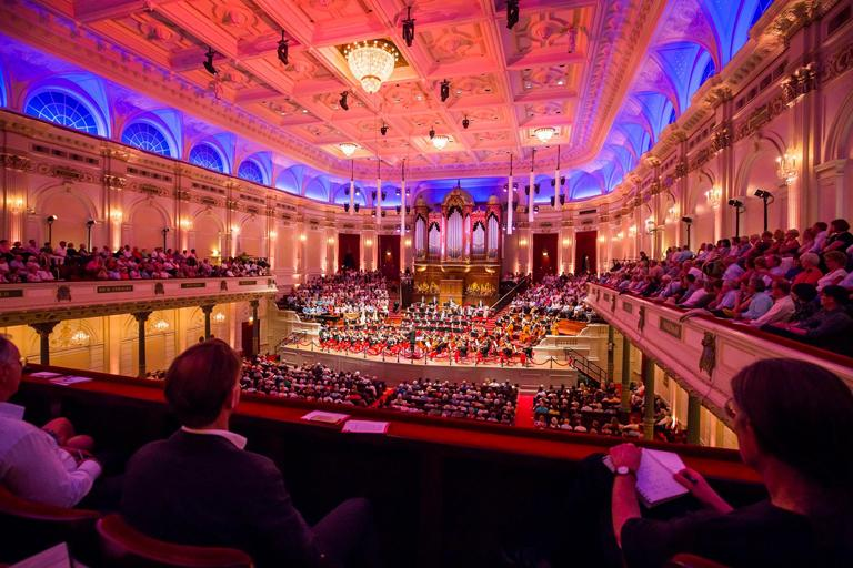The National Youth Orchestra played in Concertgebouw in Amsterdam, Holland on July 21, as part of the Robeco Summer Nights at the Royal Concertgebouw in Amsterdam, Holland. Photo: Chris Lee
