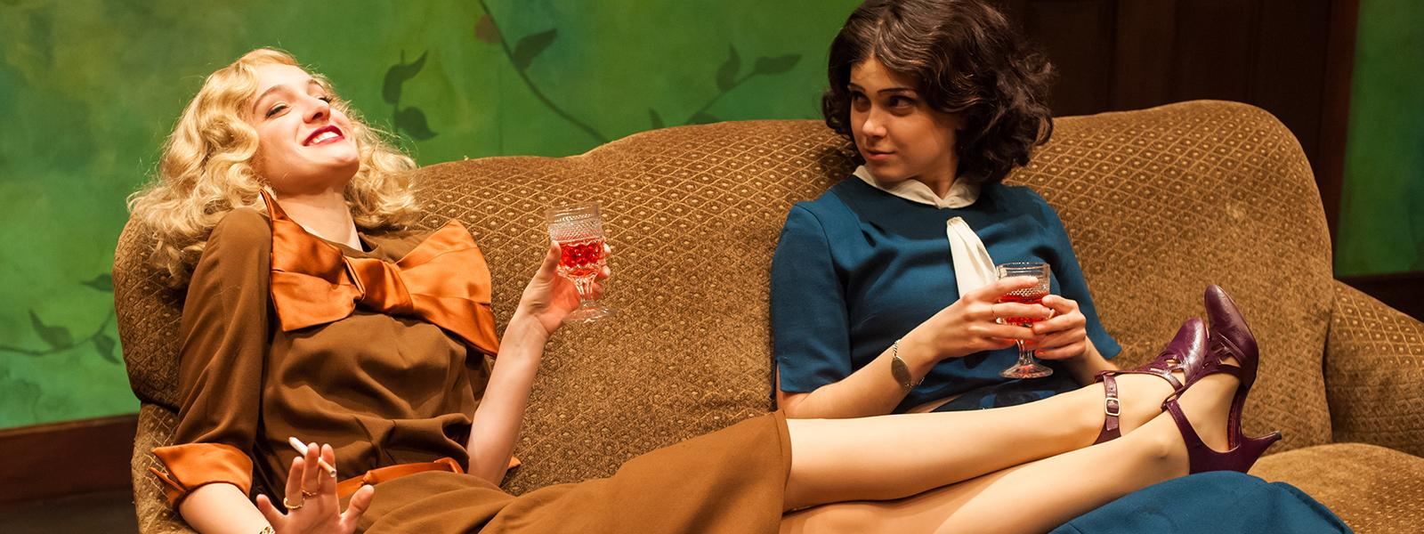 """Mary Mattison Vallery and Lori Kusatzky in """"A Bright Room Called Day"""""""
