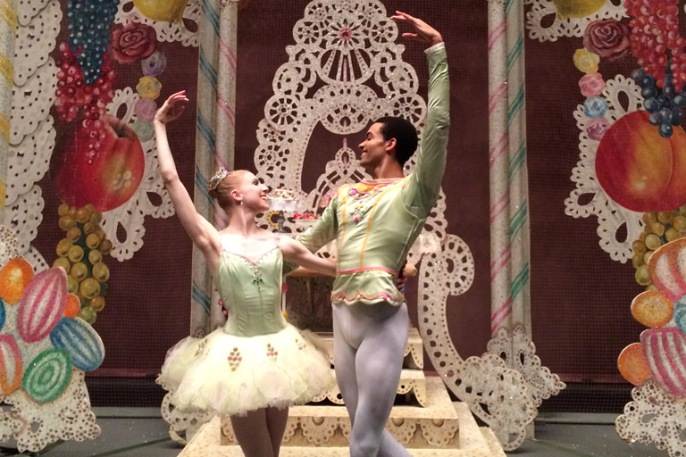 "Claire Kretzchmar and Silas Farley in NYC Ballet's ""The Nutcracker."""