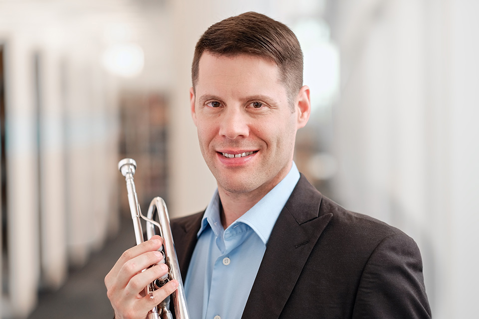 David Dash teaches trumpet in the School of Music.
