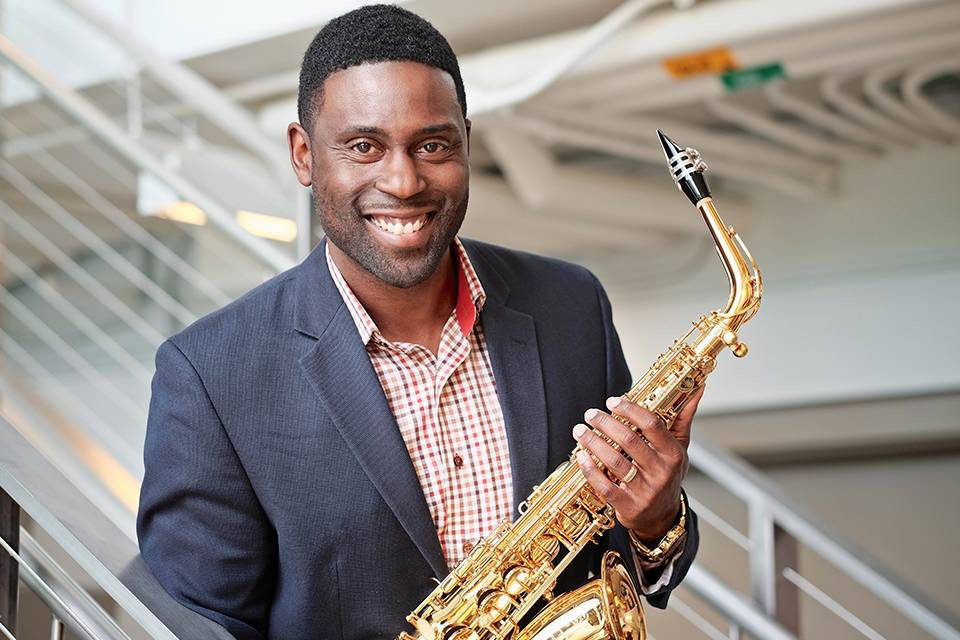 Robert Young teaches saxophone in the School of Music.