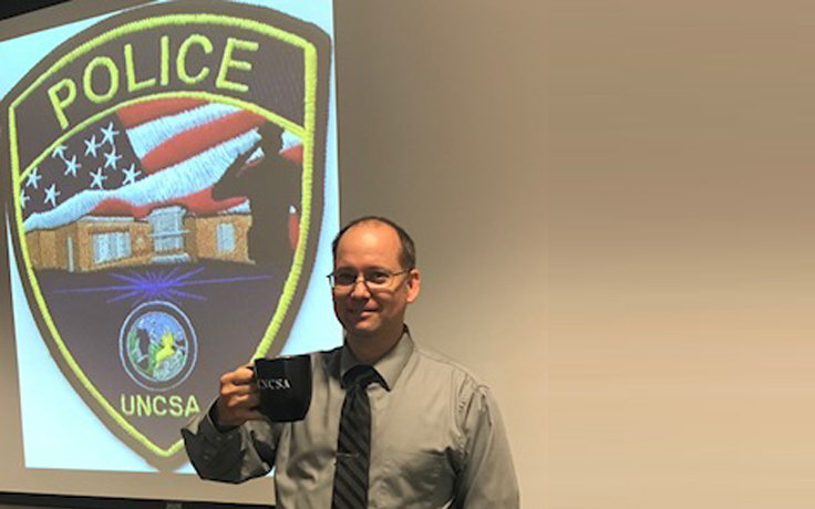 Chief of Police with coffee