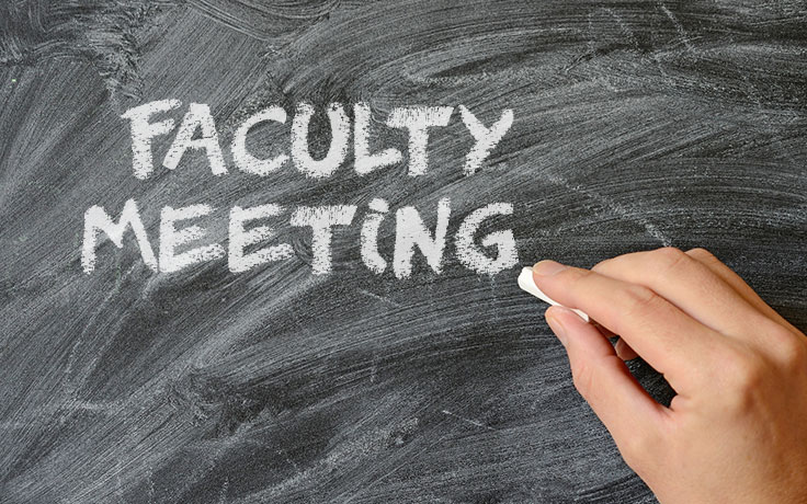faculty meeting announcement