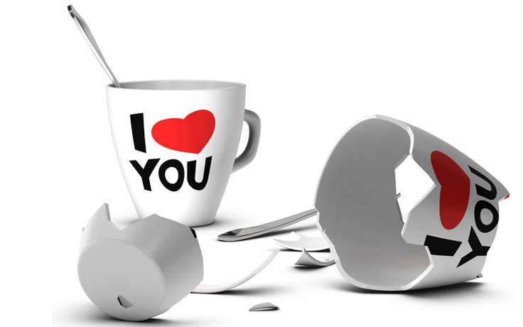 broken love mugs