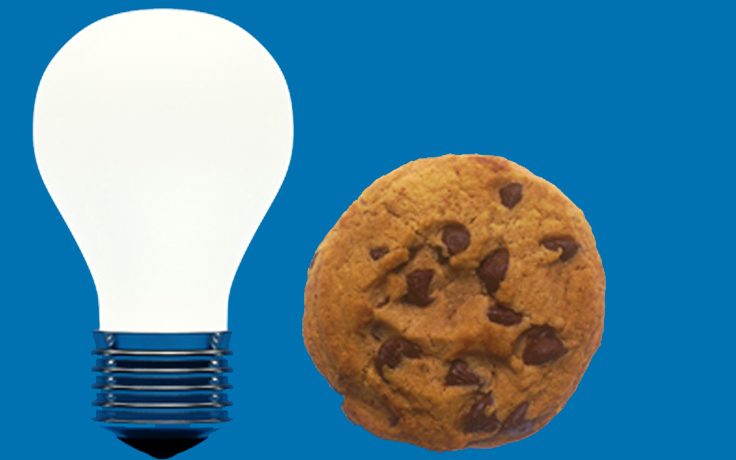 Cookie and lightbulb