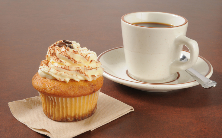 Coffee and a cupcake