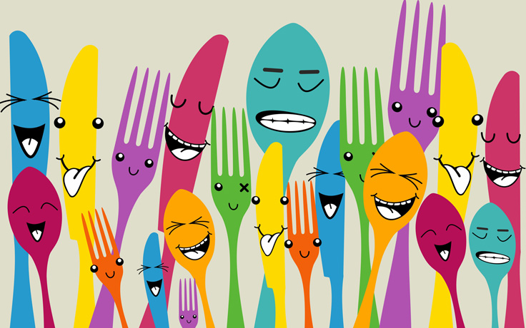 Animated silverware