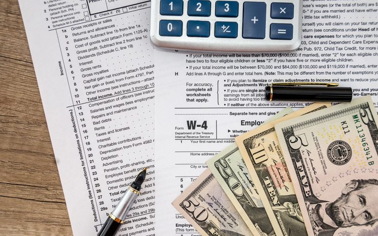 use updated withholding tax forms - uncsa