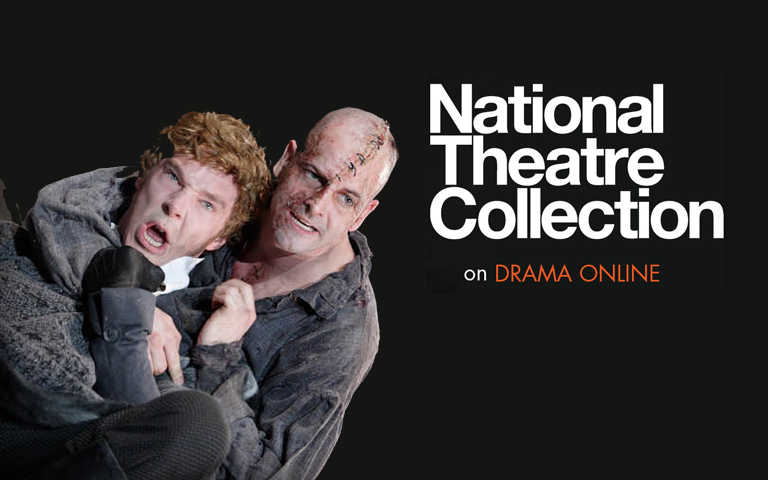 Actors in a headlock with the words National Theatre Collection