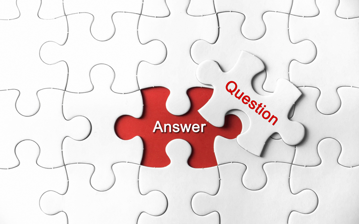 Question and Answer puzzle piece