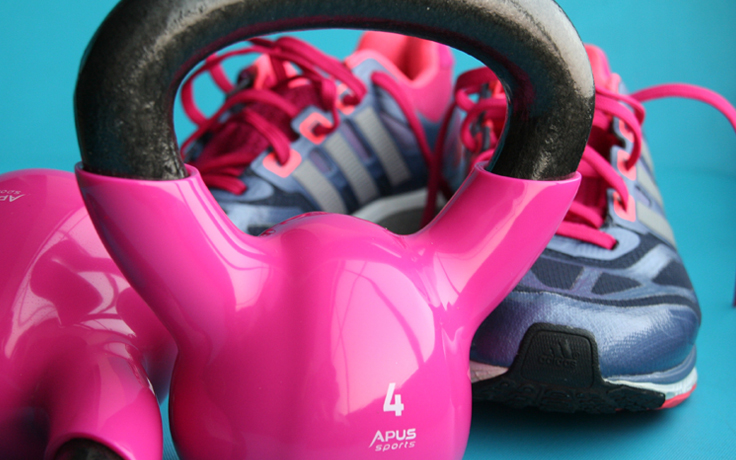 Shoes and Kettle bells