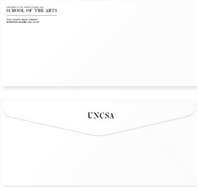 Sample of 2 UNCSA envelopes