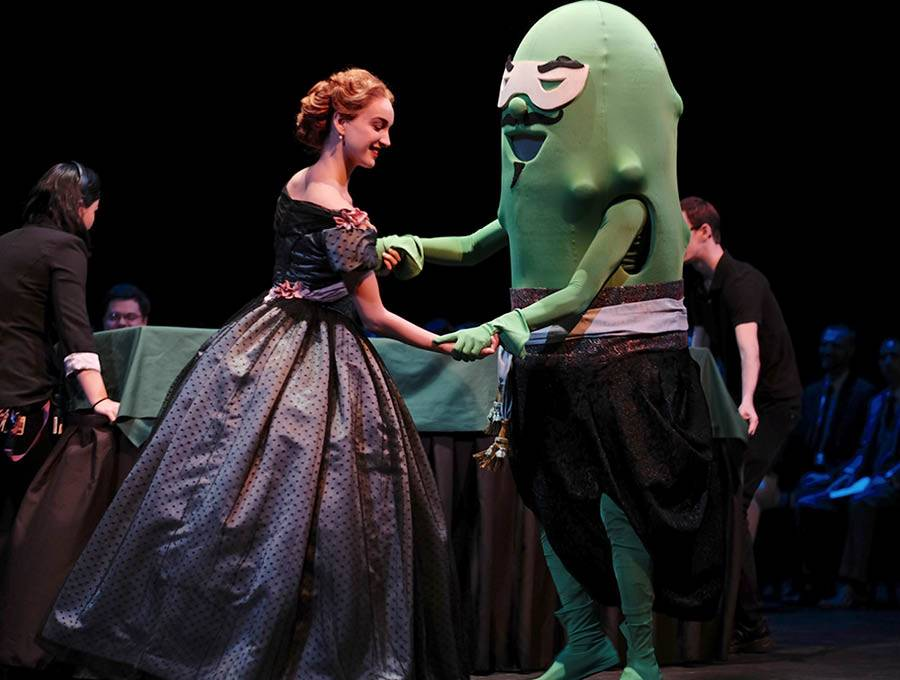 Anna and the Pickle dance at Commencement