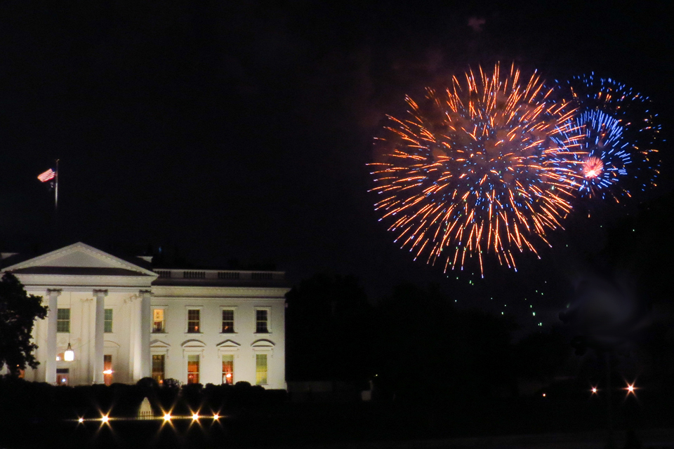 Fireworks over the White House. Photo by Matthew Straubmuller on Flickr