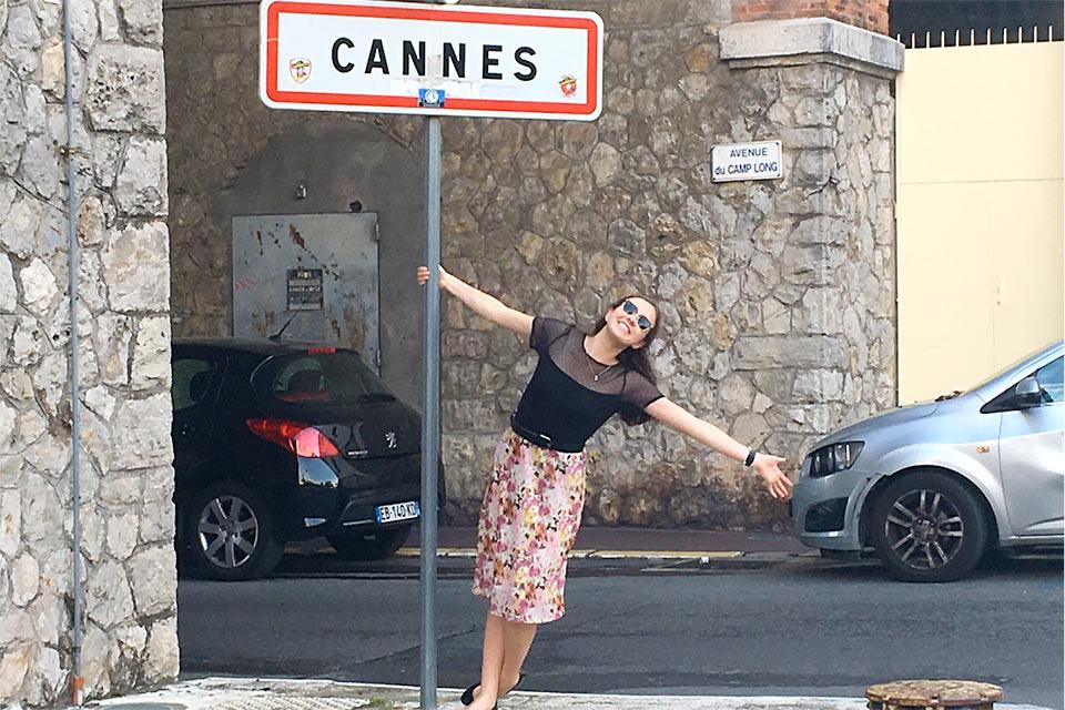 Thatcher Welden-Johnson in Cannes, France.