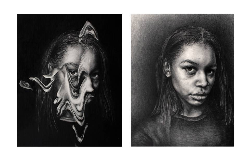 Artwork by Anna Ervin won awards at the Scholastic Arts distric competition