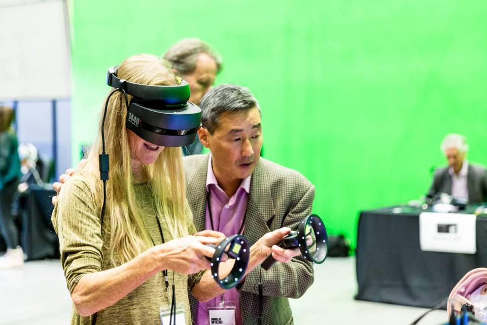 the inaugural Future of Reality Summit at UNCSA included an immersive arcade where attendees sampled the latest in virtual reality technology