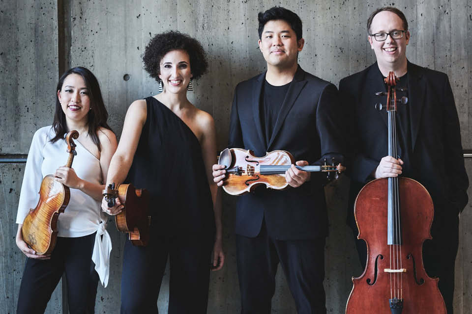 THe Verona Quartet peforms Feb. 18 in a concert to be livestreamed from UNCSA's Watson Hall