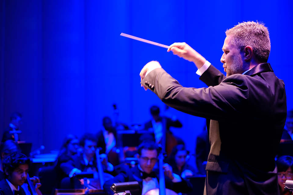 An accomplished conductor, Brian Cole is ninth chancellor of UNCSA