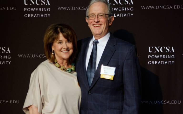Mary Lynn and John Wigodsky receive Giannini Society Award from UNCSA