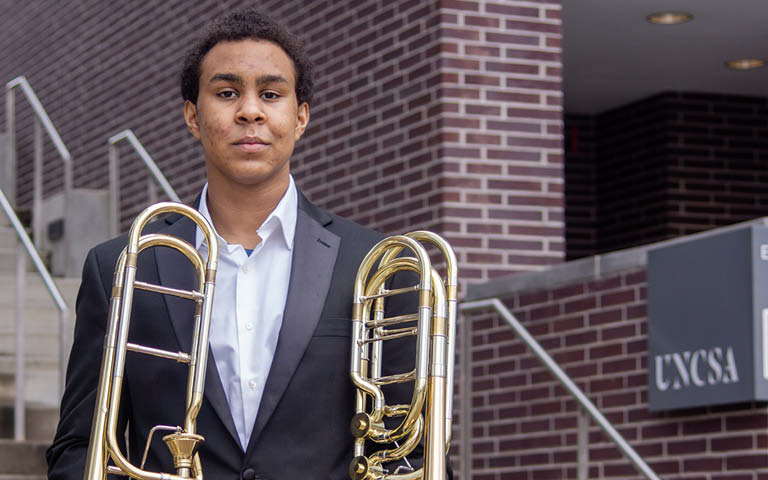 High school trombonist is chosen for National Youth Orchestra jazz residency