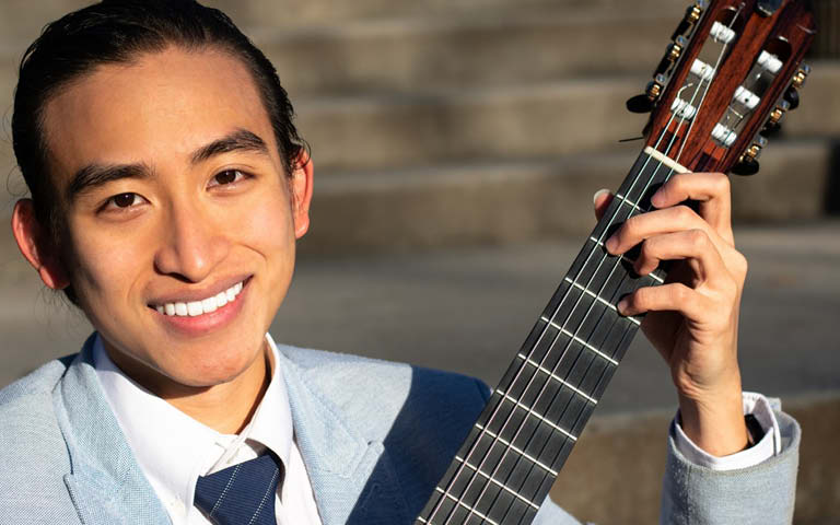 Student guitarist Harry Ngo wins annual concerto competition at UNCSA