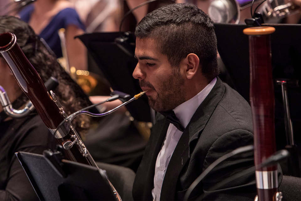 The UNCSA Wind Ensemble will perform the work of Frank Johnson