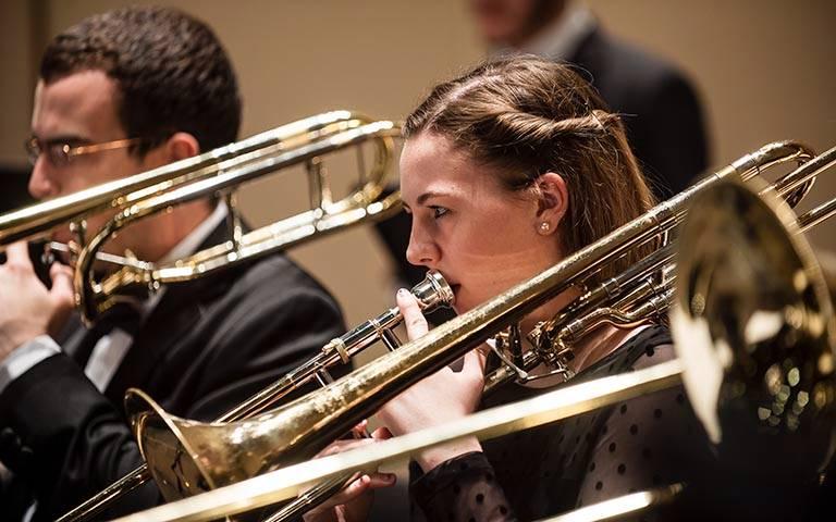 Wind ensemble trombone