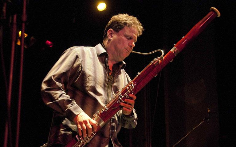 Paul Hanson playing bassoon